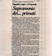 Supramonte dei Primati - Rassegna Stampa 1987